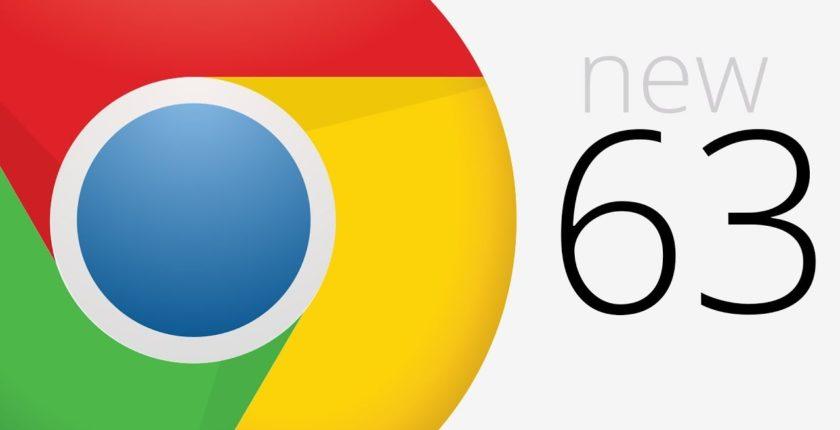 Chrome v63 released on 7th December